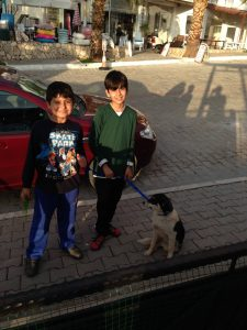 One of our local boys and his dog, who KAPSA have been helping for a few years - Then